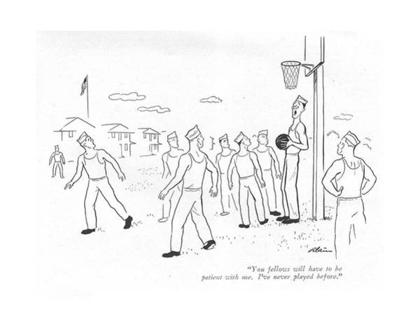 Basketball Team Drawing - You Fellows Will Have To Be Patient With Me. I've by  Alain