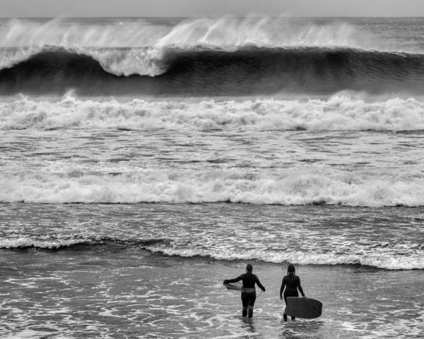 Bodyboard Photograph - You Go First by Nigel R Bell