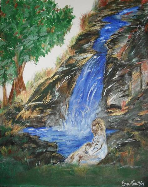 Overflow Painting - You May Thirst No More by Emily Slater
