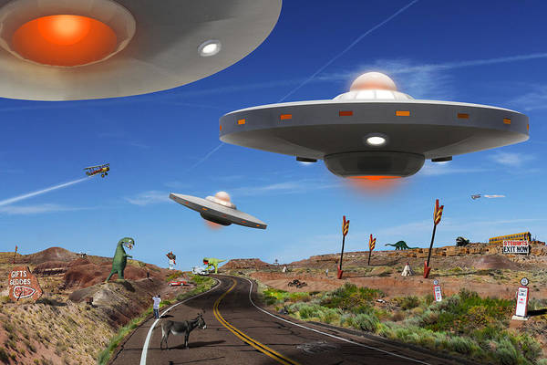 Ufo Wall Art - Photograph - You Never Know . . . 5 by Mike McGlothlen