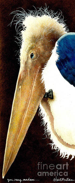 Stork Painting - You Rang Madam... by Will Bullas