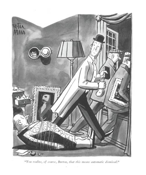 Drawing - You Realize by Peter Arno