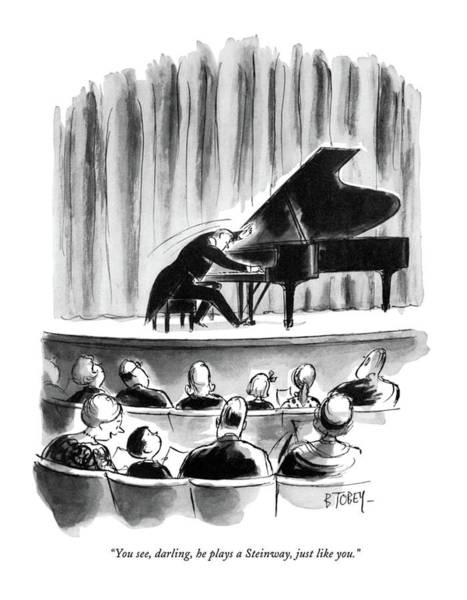 Concerts Drawing - You See, Darling, He Plays A Steinway, Just Like by Barney Tobey