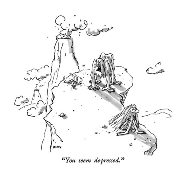 Drawing - You Seem Depressed by George Booth