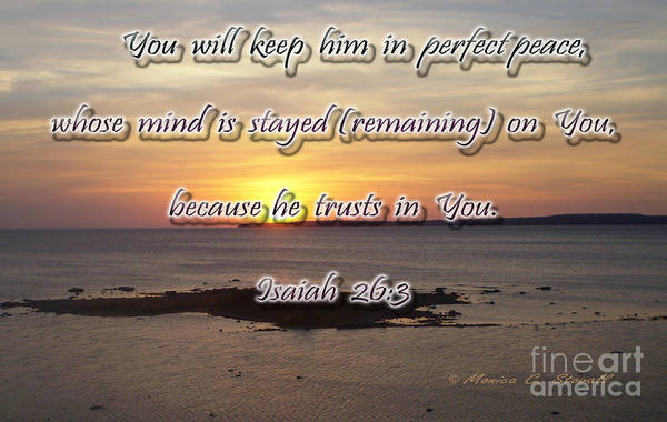 Photograph - You Will Keep Him In Perfect Peace... by Monica C Stovall
