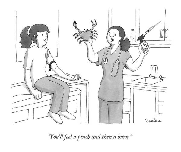 Medicine Drawing - You'll Feel A Pinch And Then A Burn by Charlie Hankin