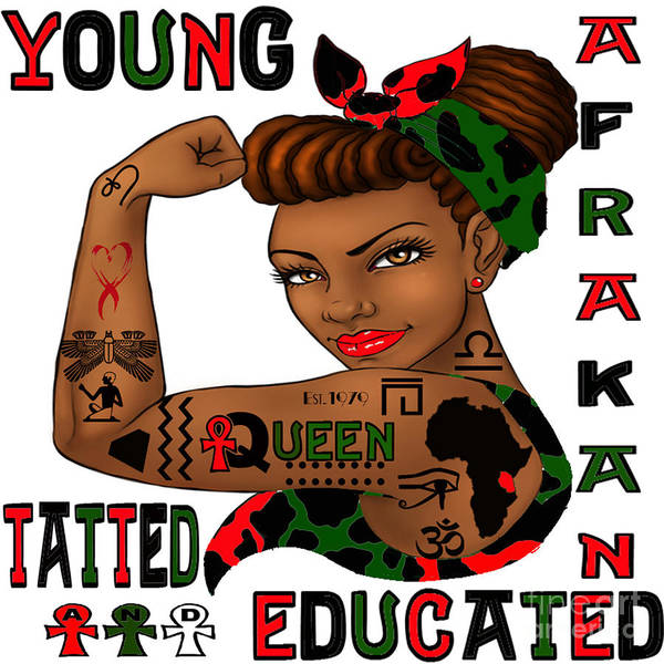 Young Afrakan Tatted And Educated Art Print