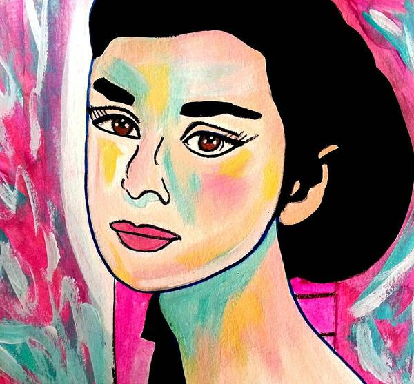 Painting - Young Audrey by Nikki Dalton