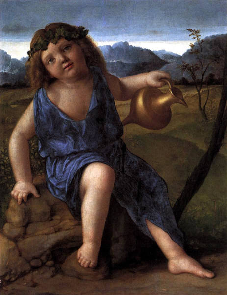 Wall Art - Painting - Young Bacchus Dionysus Giovanni Bellini 1514 by Karon Melillo DeVega