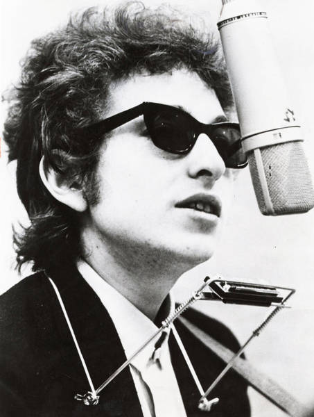 Microphone Photograph - Young Bob Dylan by Retro Images Archive