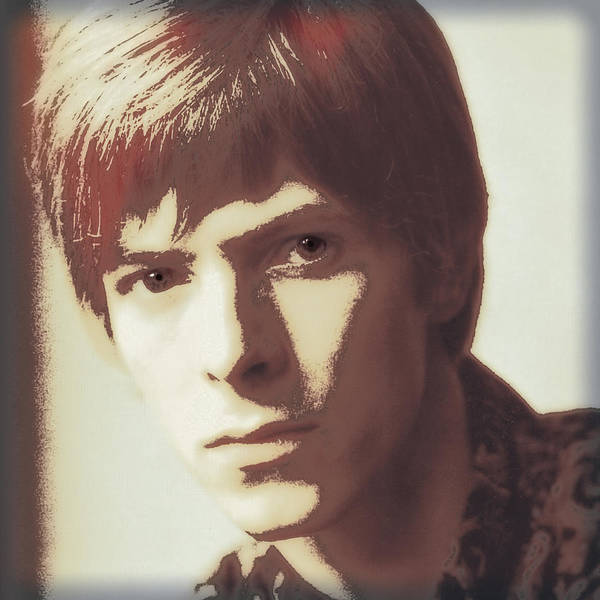 Glam Rock Digital Art - Young Bowie Pop Art by Daniel Hagerman