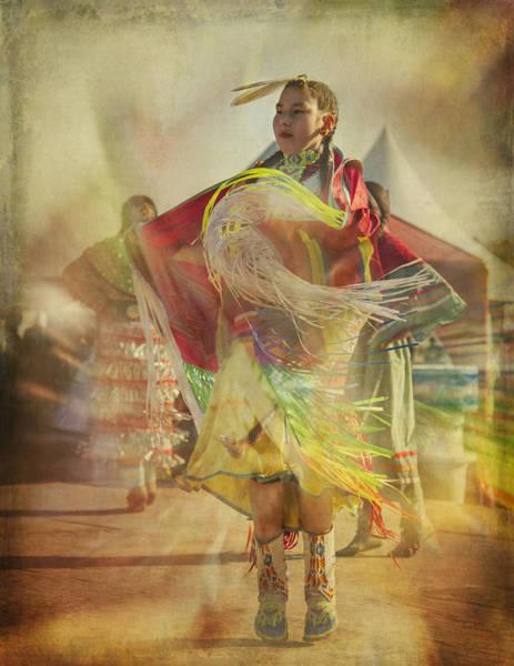 Digital Art - Young Canadian Aboriginal Dancer by Eduardo Tavares