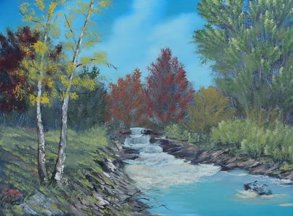 Young Cascades Art Print