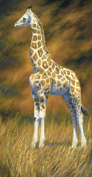 Painting - Young Giraffe by Lucie Bilodeau