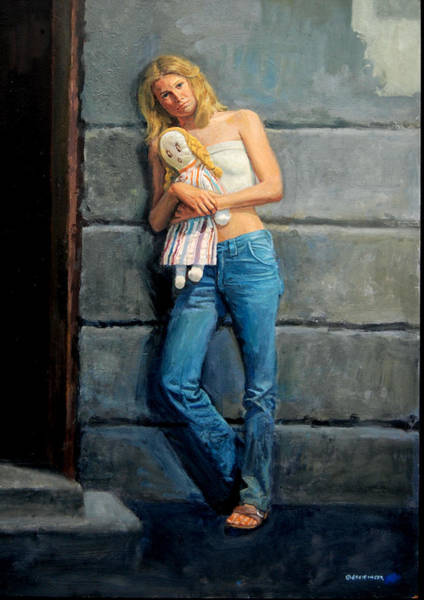 Painting - Young Girl by Mel Greifinger