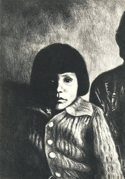 Drawing - Young Girl Original by Kendall Kessler