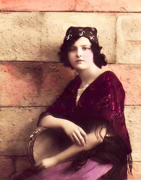 Photograph - Young Gypsy Girl by Lora Mercado