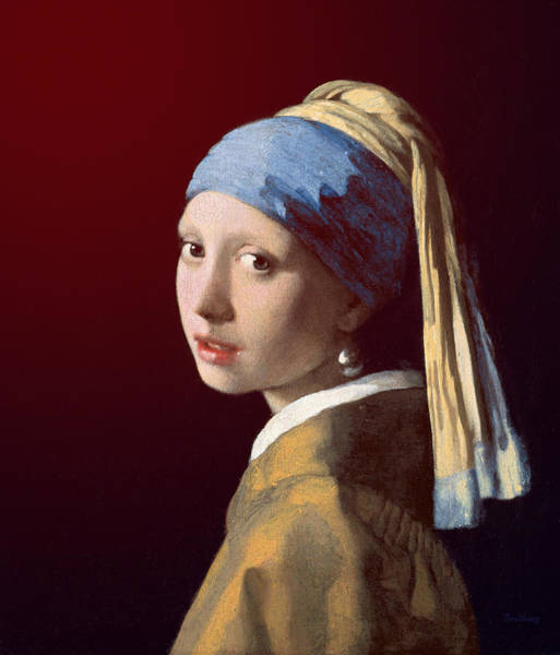 Painting - Young Lady by David Bridburg