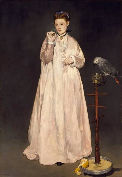 Wall Art - Painting - Young Lady by Edouard Manet