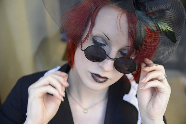 Photograph - Young Lady With Red Hair 4 by Teo SITCHET-KANDA