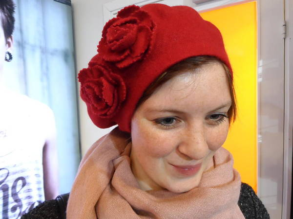 Photograph - Young Lady With Red Hat by Teo SITCHET-KANDA