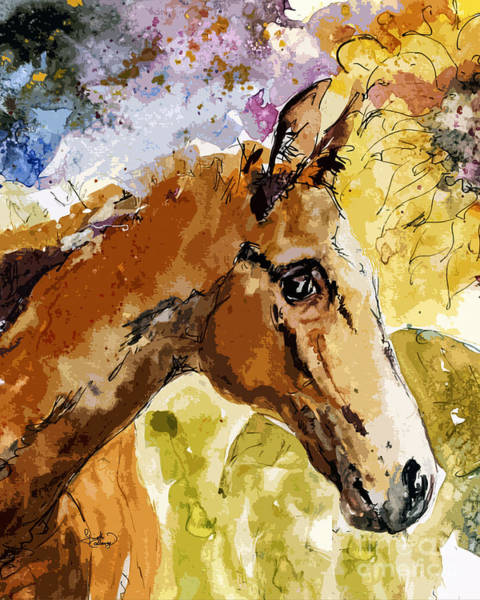 Painting - Young Life Horse Portrait by Ginette Callaway