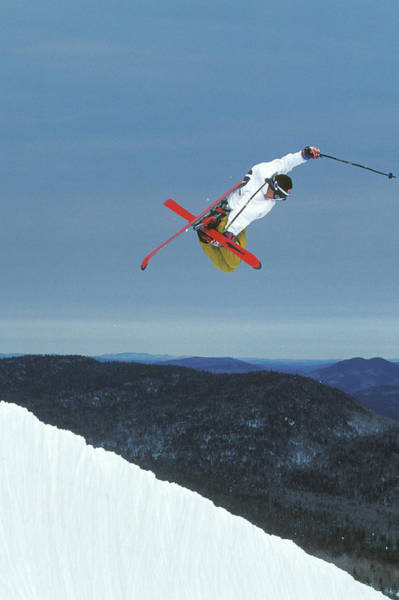 Freestyle Photograph - Young Male Skier Simon Breard Performs by Henry Georgi