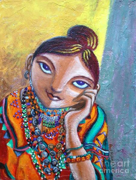 Tribal Woman Wall Art - Painting - Young Naive And Dreamful by Paul Hilario