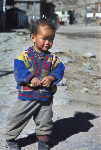 Wall Art - Photograph - Young Nepalese Girl In Manang by Richard Berry