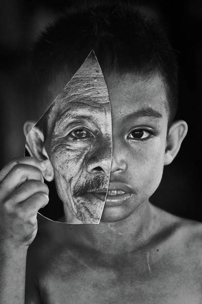 Young Boy Photograph - Young Or Old by Amaluddin