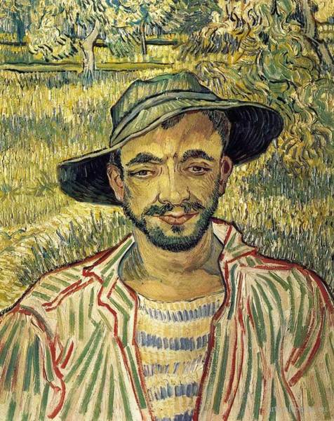 Galleria Painting - Young Peasant by Vincent van Gogh