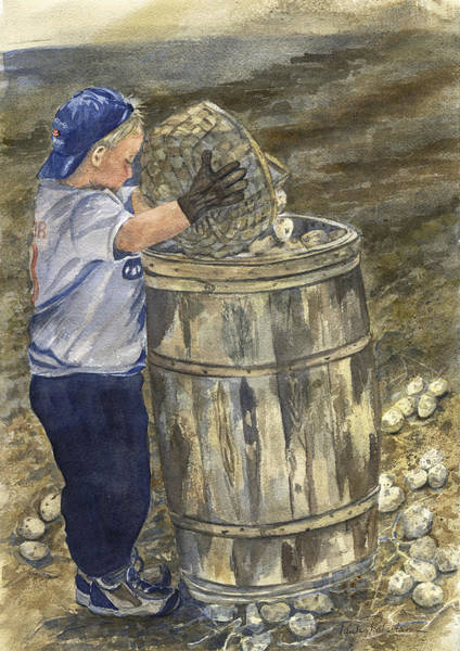 Painting - Young Picker 2 by Paula Robertson