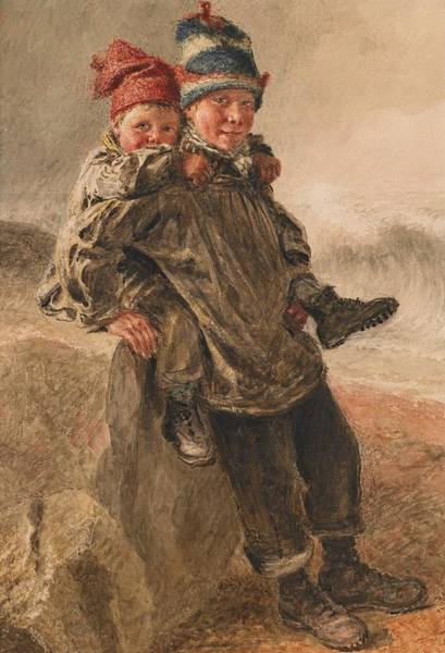 Happy Boy Painting - Young Salts by William Henry Hunt