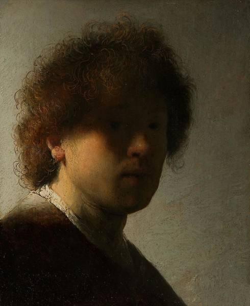 Painting - Young Self Portrait by Rembrandt van Rijn