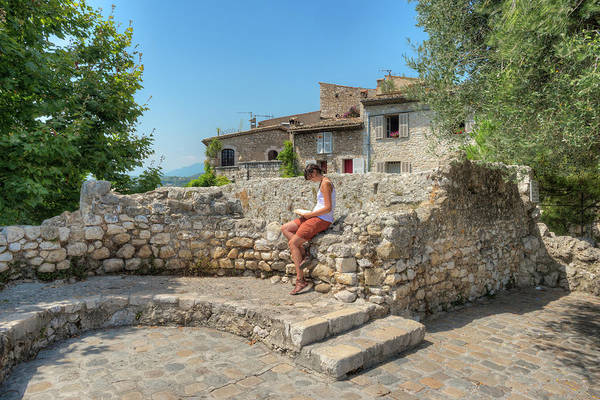 Casual Photograph - Young Tourist At Saint Paul De Vence by Hans Georg Eiben