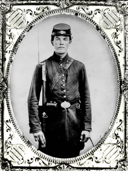 Youth Photograph - Young Union Soldier by American School