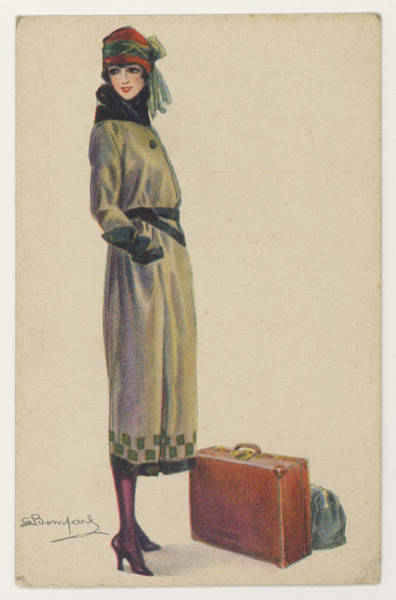 Checker Drawing - Young Woman Showing The  Barrel-line by Mary Evans Picture Library