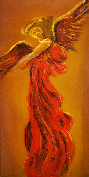Painting - Your Angel Is Waiting by Giorgio Tuscani