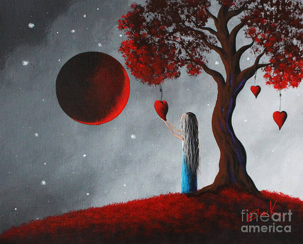 Red Moon Painting - Your Love Lives On By Shawna Erback by Erback Art