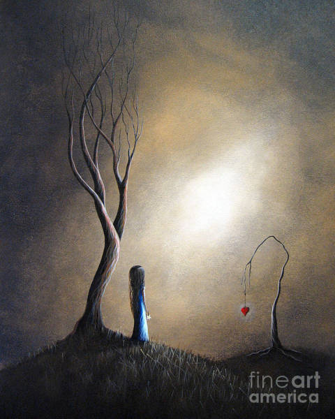 Sad Painting - Your Memory Lives On In Me By Shawna Erback by Erback Art