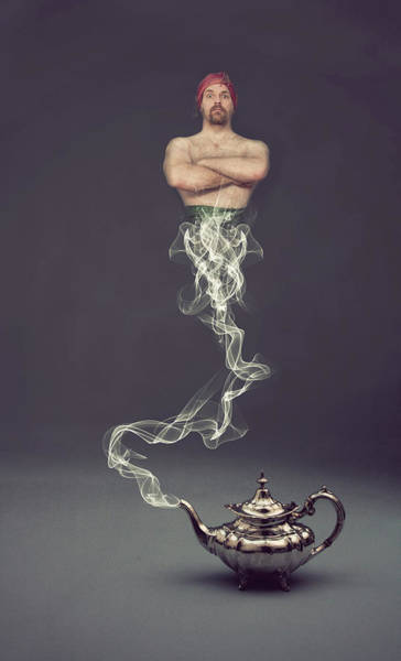 Teapot Photograph - Your Wish Is My Command by Scott Macbride