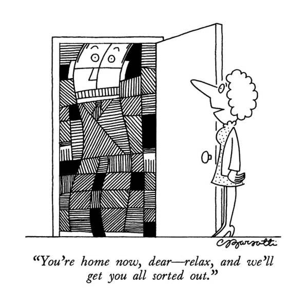 Work Out Drawing - You're Home Now by Charles Barsotti