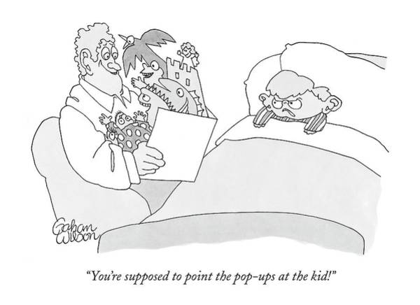 Illustration Drawing - You're Supposed To Point The Pop-ups At The Kid! by Gahan Wilson