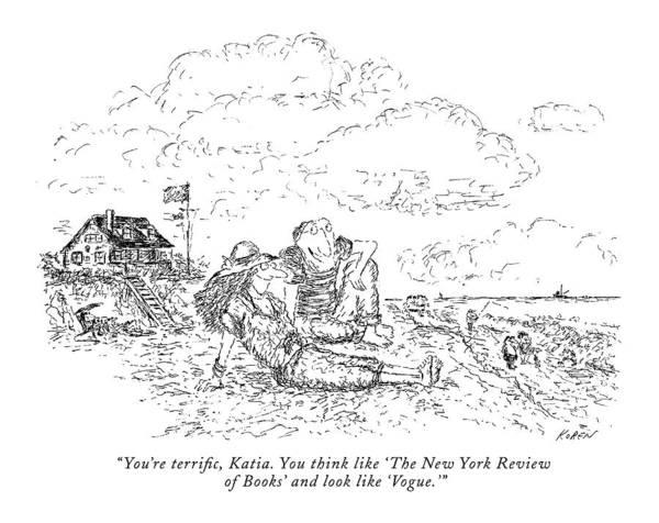 Seashore Drawing - You're Terrific by Edward Koren