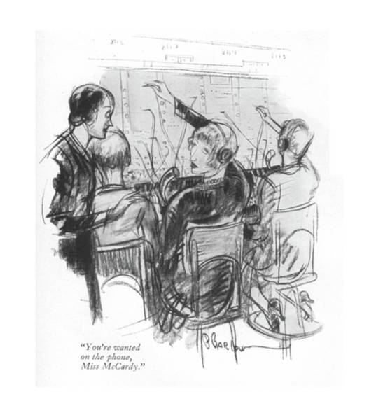 1930 Drawing - You're Wanted On The Phone by Perry Barlow