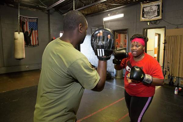 Workout Photograph - Youth Boxing Gym by Jim West