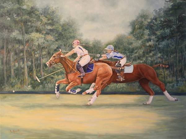 Wall Art - Painting - Youtube Video - A Polo Match by Roena King