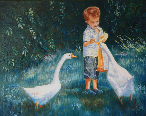Wall Art - Painting - Youtube Video - Planned Painting - Childhood Memories by Roena King