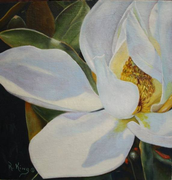 Wall Art - Painting - Youtube Video - Sydneys Magnolia by Roena King