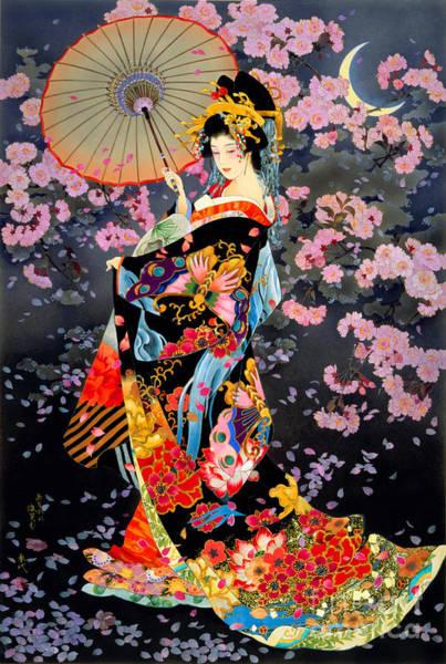 Kimono Digital Art - Yozakura by MGL Meiklejohn Graphics Licensing